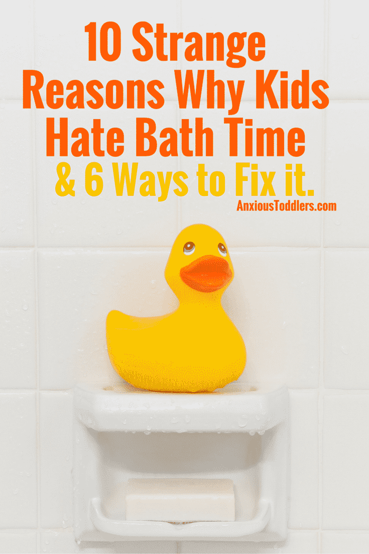 Do your kids hate bath time? There are some strange but common reasons for that resistance. Here are 10 of them and ideas on how to fix it!