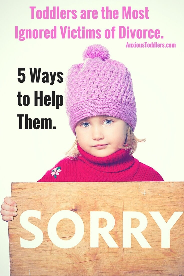 Just because toddlers can't express it, doesn't mean they aren't struggling with divorce. Please help them with these 5 steps.