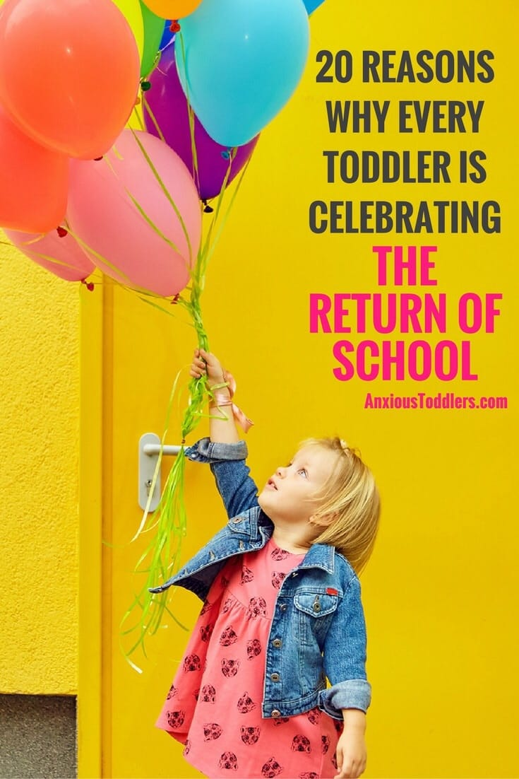 You think you are happy that school is starting, you should see your toddler!