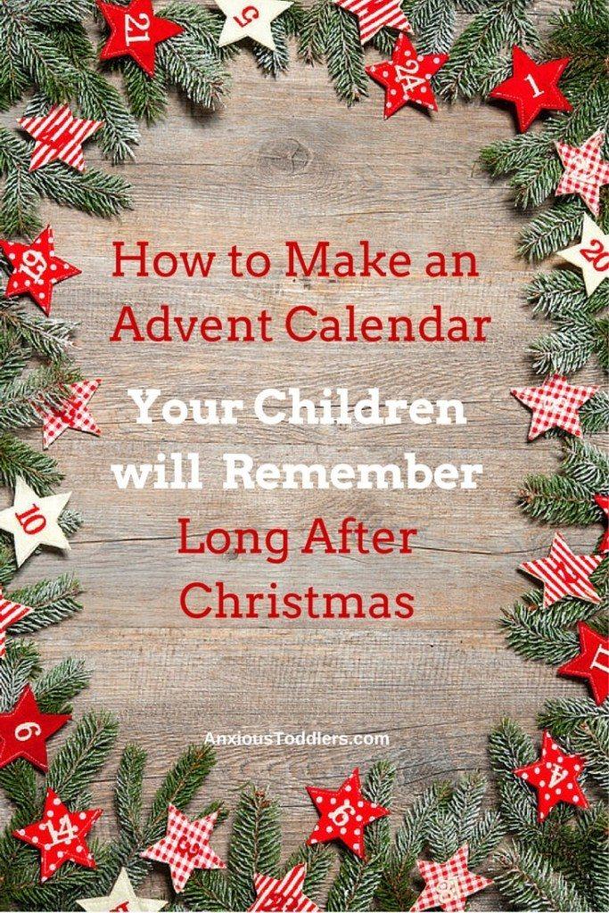 Make an advent calendar that will show your love.