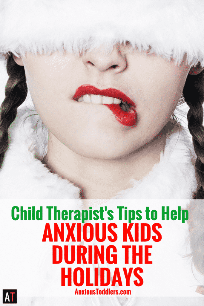 The holidays can be overwhelming for anxious kids. Here are five easy tips to help your anxious kids during the holidays.