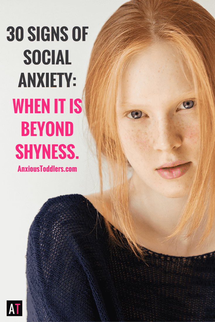 Does your child have a hard time making friends? Does your child get overwhelmed in social situations? Is it shyness or is it something more? Here are 30 signs of social anxiety in children. Are you missing the signs?