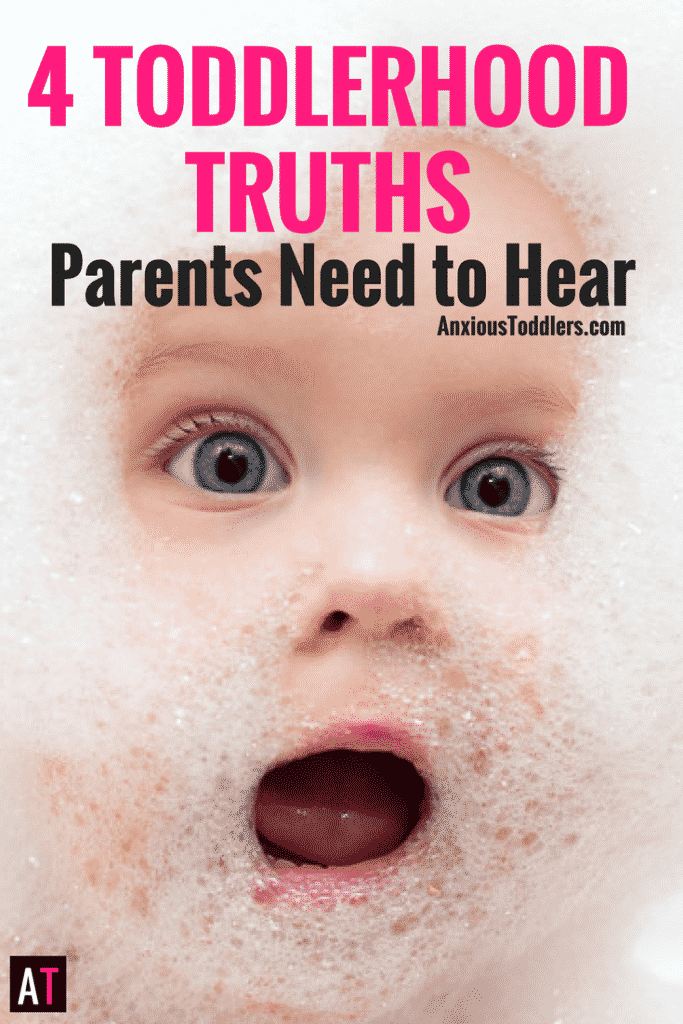When you are knee deep in toddlerhood, you may be overwhelmed. If you could accept these four toddler truths, you'll start to enjoy your little person more!