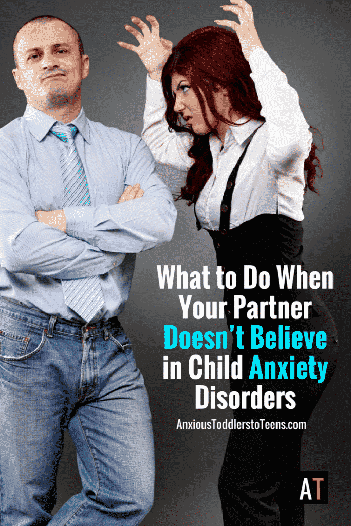 Your child is suffering from anxiety, but your partner doesn't believe in anxiety disorders. How are you supposed to handle that – pull up a seat and let's talk.