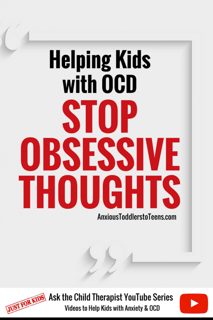 OCD can make it hard for a child to stop obsessive thoughts. In my latest Kids Youtube video I teach kids with OCD how to survive intrusive thoughts.