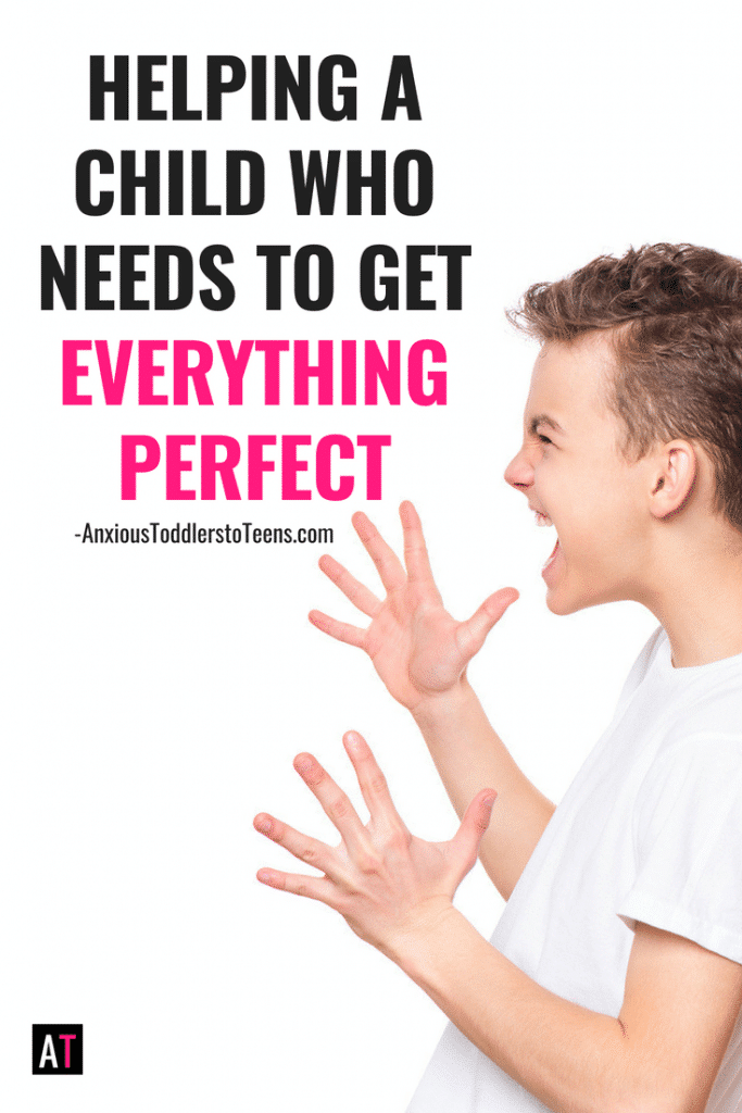 Does your child strive for perfection? Learn how to help a child with perfectionism, accept that we are all less than perfect!